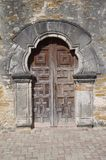 Chapel door at Mission Espada Royalty Free Stock Photography