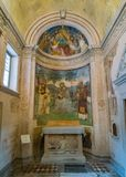Chapel in the Duomo of Spoleto. Umbria, central Italy. royalty free stock photos