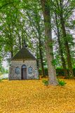 Chapel, early fall of leaves Royalty Free Stock Photo