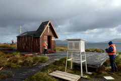 Chapel on the edge of the Earth. The Cape Horn. South America Royalty Free Stock Images