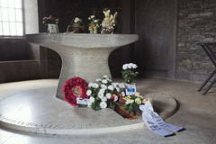 Chapel at the entrance of the German cemetary in Recogne Royalty Free Stock Images