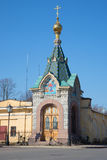 Chapel of the Epiphany of the Saviour-on-Waters, april day. Kronshtadt, Russia Stock Photos