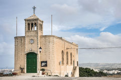 Chapel facade in Selmun, Malta. Chapel dedicated to Our Lady of Ransom in Selmun, Malta Royalty Free Stock Photography
