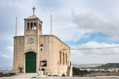 Chapel facade in Selmun, Malta. Chapel dedicated to Our Lady of Ransom in Selmun, Malta Stock Photo