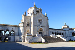 Chapel Famedio at Monumental cemetery (Cimitero Monumentale) in Milan Stock Images