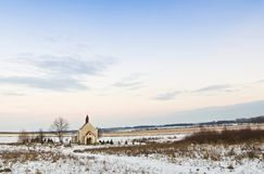 Chapel in a field Stock Photography