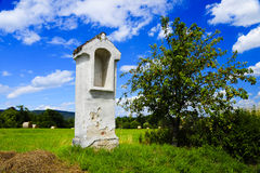 Chapel in the fields. Picture of a chapel in the fields Stock Photography