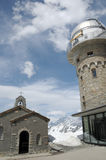 Chapel at Gornergrat station Royalty Free Stock Image