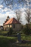 Chapel And Graveyard In Stahlbrode Royalty Free Stock Photos