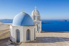 Chapel of Greek Orthodox Church on Santorini Stock Images