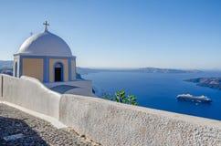 Chapel of Greek Orthodox Church on Santorini Royalty Free Stock Image