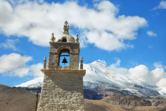 Chapel of Guallatire village Royalty Free Stock Photography