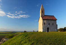 Chapel on hill Royalty Free Stock Image