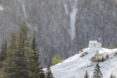 Chapel on a hill Royalty Free Stock Photography