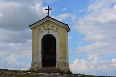 Chapel on the hill, calvary stock photography