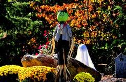 Chapel Hill, NC: Halloween Decorations Stock Photo
