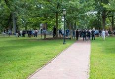 Chapel Hill North Carolina, eniga Tillstånd-Augusti 25, 2018-Demons royaltyfri fotografi