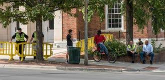 Chapel Hill North Carolina, eniga Tillstånd-Augusti 25, 2018-Demons arkivbild