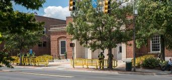 Chapel Hill North Carolina, eniga Tillstånd-Augusti 25, 2018-Demons royaltyfri bild