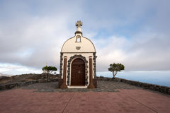 Chapel on a hill at sunset. On la gomera Stock Photo