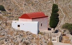 Chapel in the hills, Halki island Stock Image