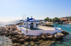 Chapel of the Holy Apostles. Faliraki. Rhodes. Greece Royalty Free Stock Photography