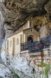 Chapel in holy cave of covadonga Stock Image