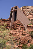 Chapel of the Holy Cross. In Sedona, Arizona. The chapel was Designed by a Frank Lloyd Wright student, Marguerite Brunswig Staude. The chapel was built in 1956 Stock Photo