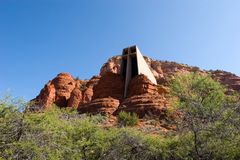 Chapel of the Holy Cross in Arizona Stock Photography