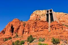 Chapel of Holy Cross Arizona stock images