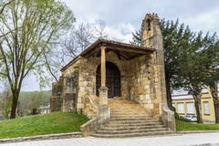 Chapel of the Holy Cross in Cangas de Onis Asturias Stock Images