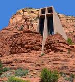Chapel of the Holy Cross. SEDONA ARIZONA 04 22 2014: Chapel of the Holy Cross is a Roman Catholic chapel built into the buttes of Sedona, Arizona, run by the Stock Photos