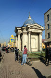 Chapel of Holy Trinity Izmailovo Cathedral in St. Petersburg Royalty Free Stock Images