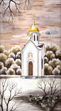 Chapel in honour of sacred Nikolay Royalty Free Stock Photography