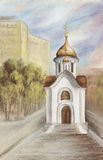 The Chapel in honour of sacred Nikolay Royalty Free Stock Images