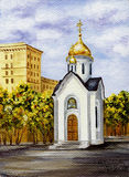 Chapel in honour of sacred Nikolay Royalty Free Stock Images