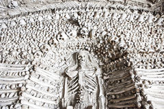 Chapel of human bones of Campo Maior, Portugal. Chapel of human bones at Campo Maior Our Lady of Da Expectaçao Church, Portugal Stock Images