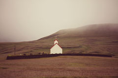Chapel in Iceland Royalty Free Stock Photos