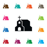 Chapel Icon. Cross Vector Element Can Be Used For Chapel, Christian, Cross Design Concept. Stock Photography