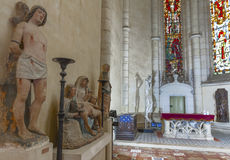 In the Chapel. Inside the chapel of Blois castle. Loire valley, France Stock Photography