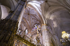 Chapel.inside the cathedral of toledo, stained Stock Image