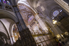 Chapel.inside domkyrkan av toledo som befläckas Fotografering för Bildbyråer
