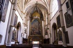 Chapel.inside domkyrkan av toledo som befläckas Arkivbilder