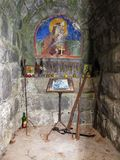 Chapel inside the Memorial Ossuary to fallen soldiers with fresco Stock Photo