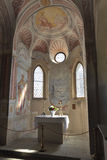 Chapel interior in Bled Castle. Stock Photo