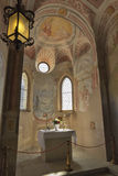 Chapel interior in Bled Castle. Royalty Free Stock Images