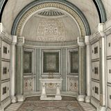 Chapel Interior 3d CG Royalty Free Stock Photos