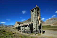 Chapel at the Iseran pass, France Royalty Free Stock Image