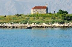 Chapel on island Royalty Free Stock Photography