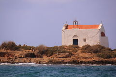 Chapel on island Afentis Christos, Malia Royalty Free Stock Photos